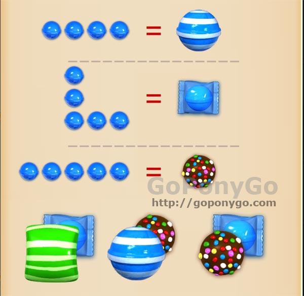 Combina los caramelos especiales