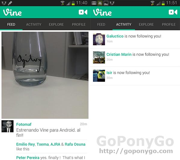 Análisis de Vine para Android