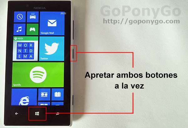 Cómo hacer capturas de pantalla en los Nokia Lumia con Windows Phone 8