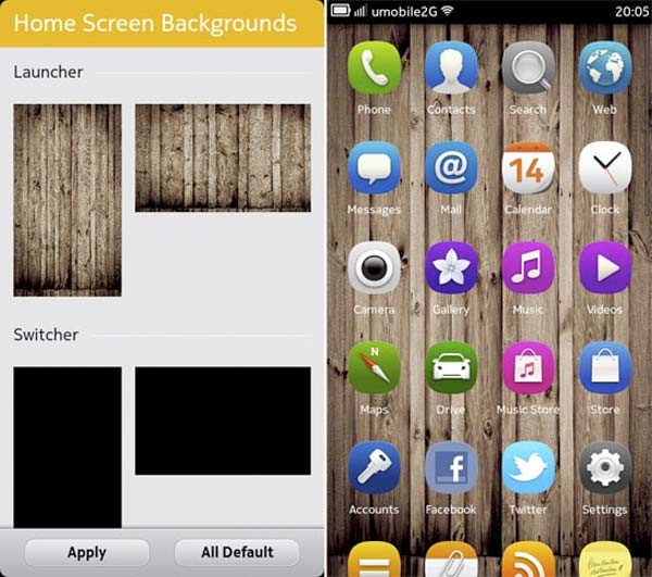 Edita tus fondos de pantalla con Home Screens Background Settings