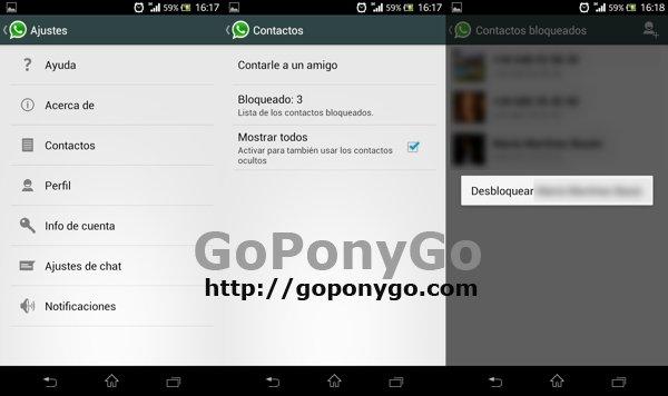 Cómo añadir, bloquear, desbloquear y borrar un contacto en Whatsapp