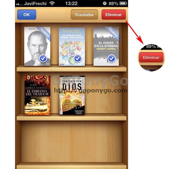 Cómo borrar un libro de iBooks