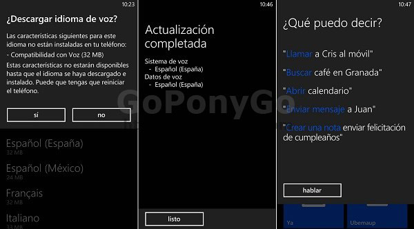 Guía para usar los comandos de voz en Windows Phone
