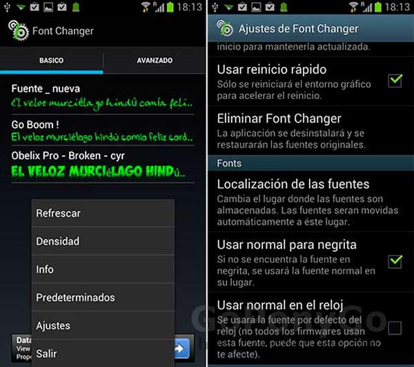 Cómo cambiar el tipo de fuente en Android