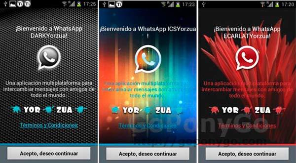 Tres nuevos temas para cambiar el aspecto de Whatsapp en Android