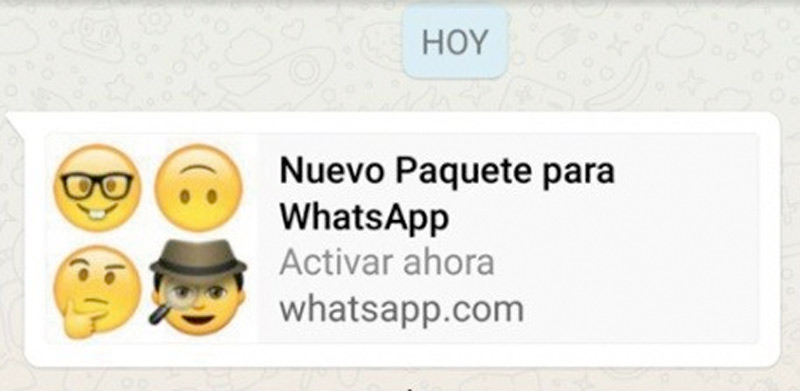 Nuevos packs de Emojis para WhatsApp