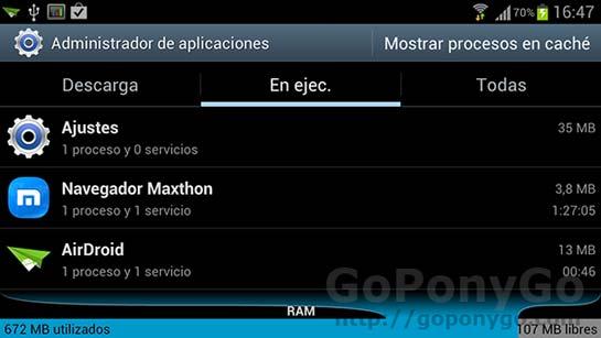 Cómo cerrar aplicaciones en uso en Android y matar procesos
