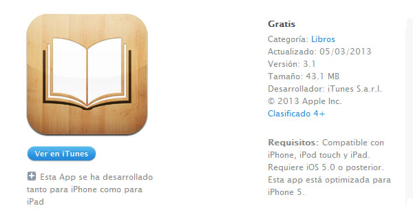 Descarga iBooks