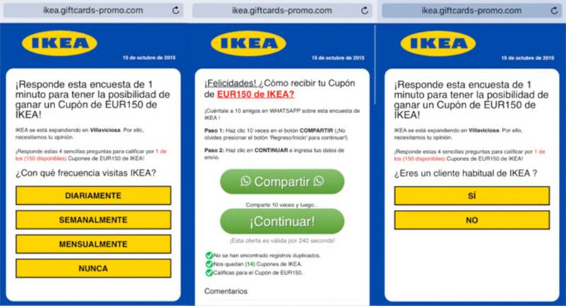 Ikea regala por WhatsApp un cupón de 150 euros