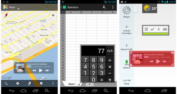 Como poner los widgets de Android flotando por la pantalla
