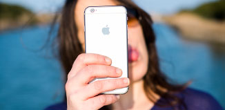 Selfies curiosas con iPhone