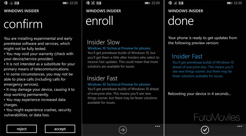 Cómo instalar Windows 10 technical preview en tu Windows Phone 8 compatible