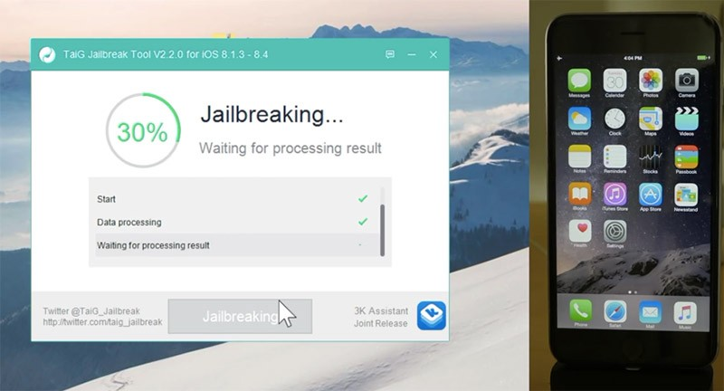 Manual para realizar jailbreak al iPhone con iOS 8.4 con TaiG y Mac