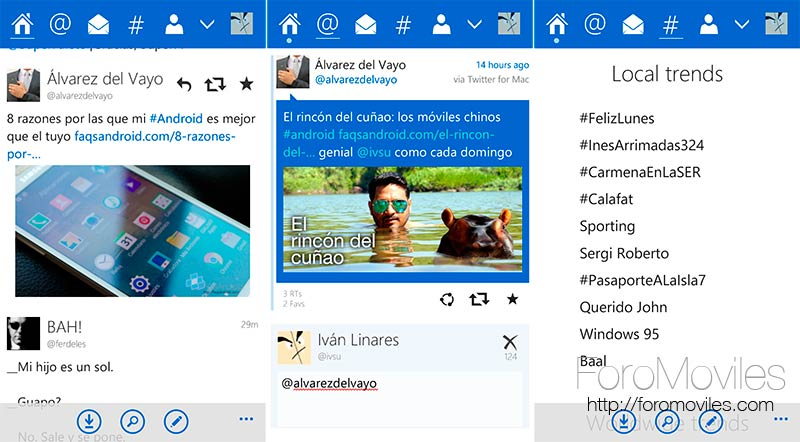 Tweetium, posiblemente el mejor cliente de Twitter para Windows Phone