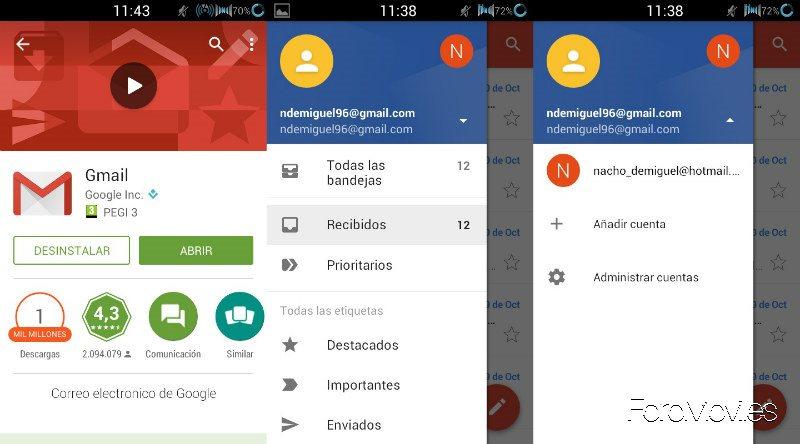 Cuentas Gmail Dos Cuentas