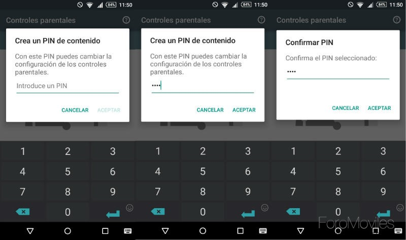 Control Parental Google Play Código PIN