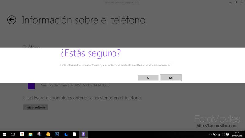 Cómo hacer downgrade desde Windows 10 a Windows Phone 8.1