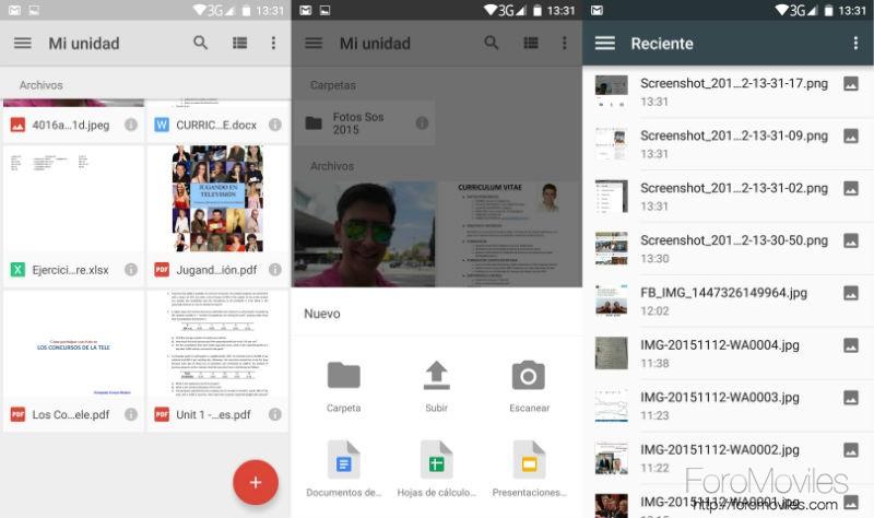 Guía Google Drive Subir Archivos