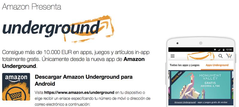 Amazon Underground - 3 juegos android por los que he pagado y tú puedes tener gratis
