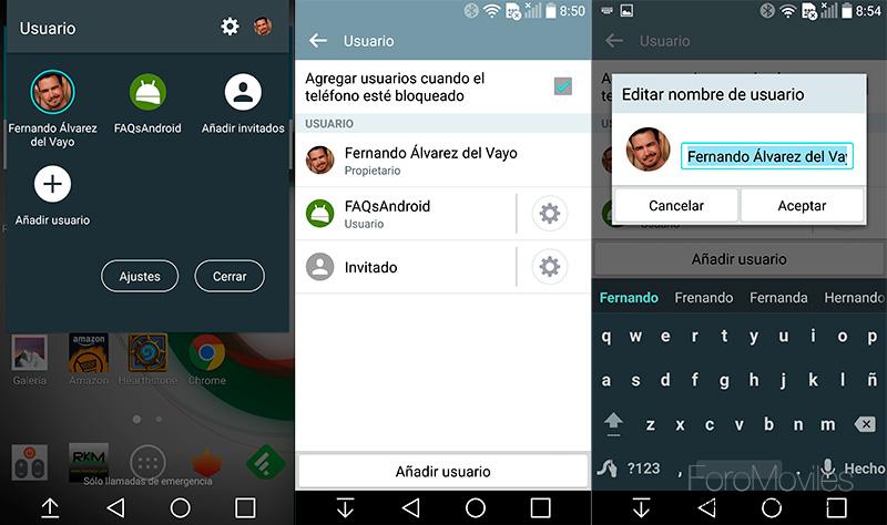 Modo invitado en Android