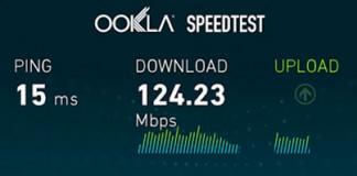 test de velocidad en Android