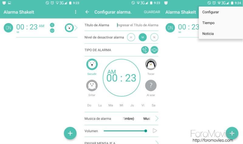 Aplicaciones Despertador Android Despertador Shake It