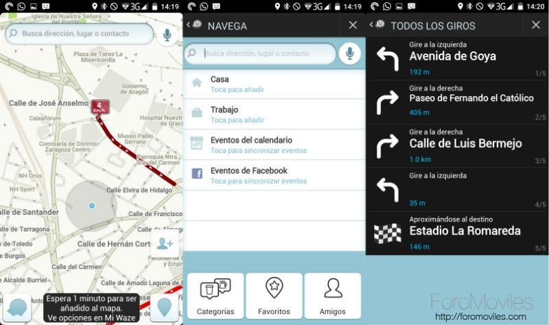 Navegadores GPS Android Waze