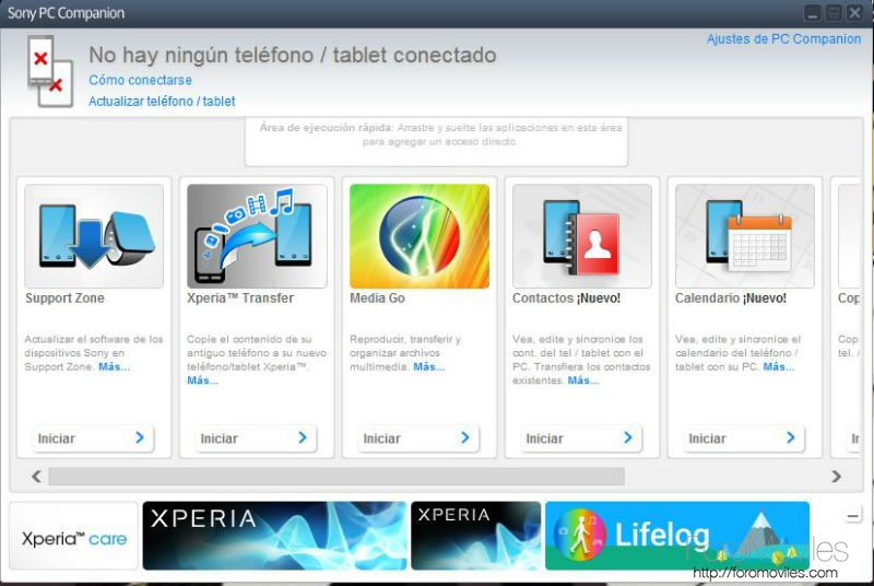 Alternativas iTunes Android Sony PC Companion