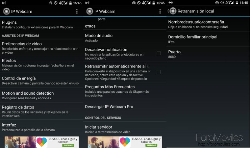 Android Como Webcam Captura App