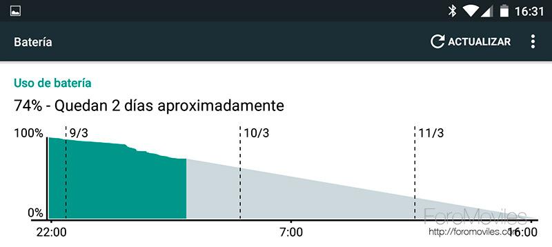 Cómo calibrar batería en Android