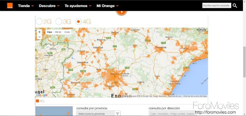 Cobertura Orange Mapa de Cobertura