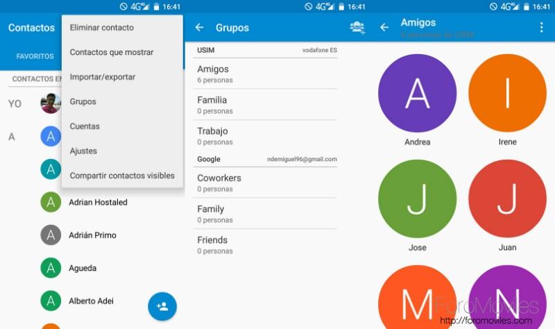 Contactos En Android Grupos
