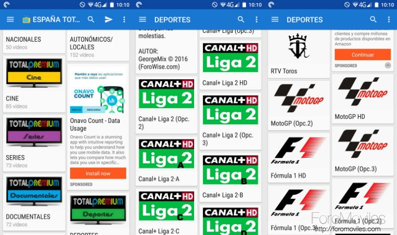 Deporte En Android Canales Wiseplay